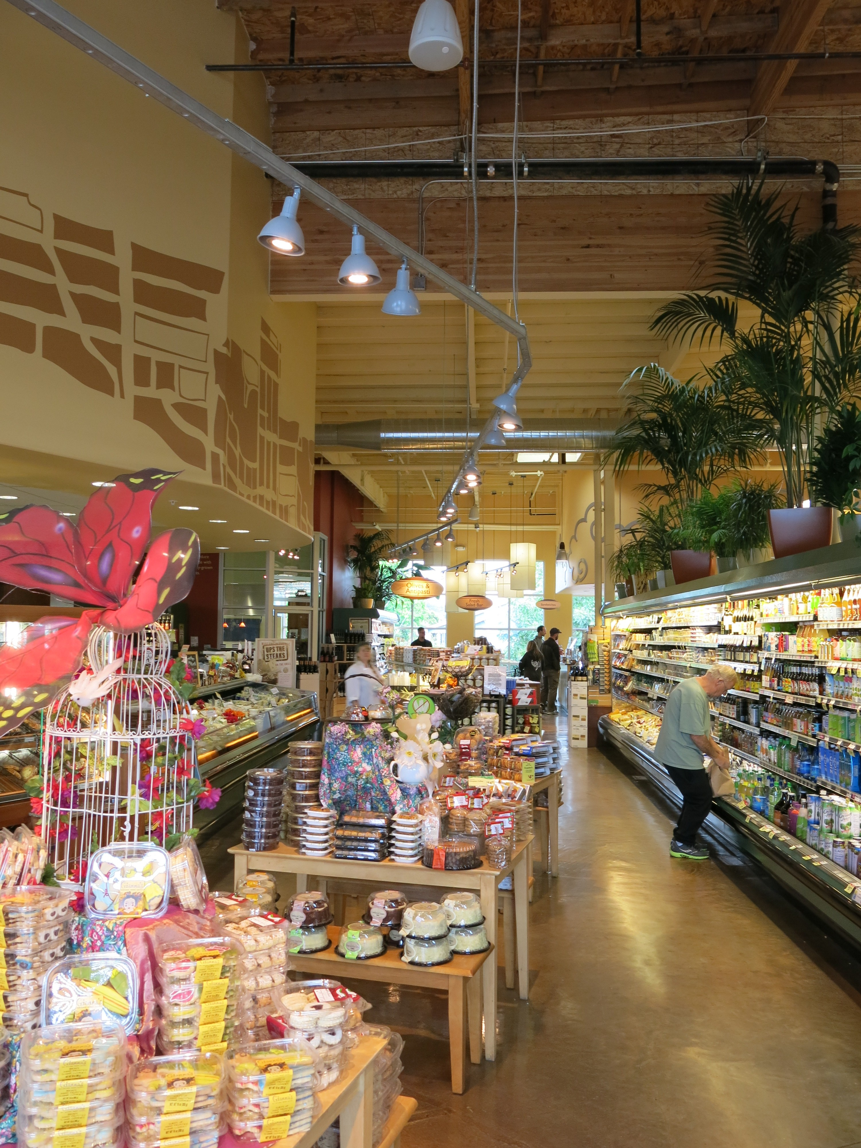 The overhead LED l&s light the main aisle that runs around the perimeter of the store. The variety of merchandise being lit by these l&s ranges from ... & New Leaf Community Market Westside Santa Cruz Ca. Improves Store ...